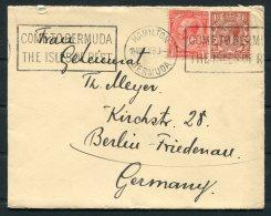 1928 Bermuda (GB Stamps) Hamilton - Berlin Germany. Pacific Steam Navigation Company Ship Cover. PSNC - Bermuda