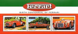 Guyana Block Ferrari  **/MNH - Voitures