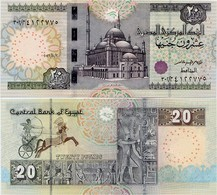 EGYPT        20 Pounds         P-65        2.8.2016        UNC  [ Sign. Amer - 4 Mm. Security Thread ] - Egitto
