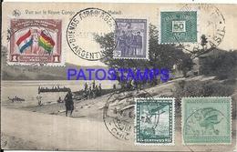 101737 AFRICA CONGO BELGE BELGIUM BELGISCH CONGO COSTUMES NATIVE IN BOAT POSTAL POSTCARD - Postcards