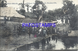 101738 AFRICA CONGO BELGE BELGIUM BELGISCH CONGO STANLEYVILLE COSTUMES NATIVE VILLAGE POSTAL POSTCARD - Postcards
