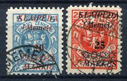 42424) MEMEL # 136-37 Gestempelt Aus 1923, 28.- € - Klaipeda