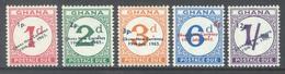 GHANA - 1965 - MNH/** - TIMBRES TAXE - Yv TX 11-15 - Lot 17910 - Ghana (1957-...)