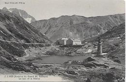 MONTAGNE SUISSE VS VALAIS HOSPICE DU GRAND SAINT BERNARD LAC ET STATUE - Alpinisme