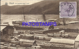 101740 AFRICA CONGO BELGE BELGIUM BELGISCH CONGO MATADI SHIP DOCK & TRAIN POSTAL POSTCARD - Postcards