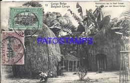 101742 AFRICA CONGO BELGE BELGIUM BELGISCH CONGO HOMES ON THE TOP POSTAL POSTCARD - Postcards