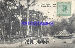 101743 AFRICA CONGO BELGE BELGIUM BELGISCH CONGO COSTUMES NATIVE VILLAGE POSTAL POSTCARD - Postcards
