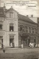 CAPPELLEN (Kapellen) - Patisserie Van Eggermond - Rue De La Station - Mooie  Animatie - Reclamekaart Hoelen H4545 - 1909 - Kapellen