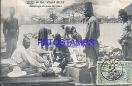 101746 AFRICA CONGO BELGE BELGIUM BELGISCH CONGO MERKET PACKING GOODS POSTAL POSTCARD - Postcards