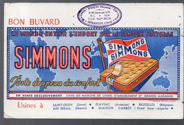 Buvard MATELAS SIMMONS  (PPP9558) - Buvards, Protège-cahiers Illustrés
