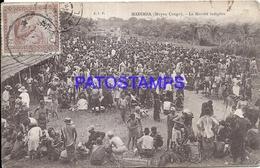 101753 AFRICA CONGO BELGE BELGIUM BELGISCH CONGO MADIMBA COSTUMES THE MARKET BREAK CIRCULATED TO ARGENTINA POSTCARD - Postcards