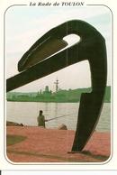 83. CPM. Var. La Seyne-sur-Mer. Corniche De Tamaris. La Rade De Toulon (animée, Pêcheur, Bateau Militaire) - La Seyne-sur-Mer
