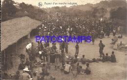 101754 AFRICA CONGO BELGE BELGIUM BELGISCH CONGO COSTUMES MARKET NATIVE CIRCULATED TO ARGENTINA POSTAL POSTCARD - Postcards