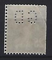 France 1906  Semeuse (o) Yvert 140 (perfin GD) - Perforés