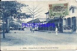 101758 AFRICA CONGO BELGE BELGIUM BELGISCH CONGO BOMA AVENUE ROYAL & MAISON FRANÇAISE POSTAL POSTCARD - Postcards