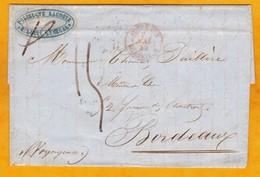 1849 - Lettre Pliée Avec Correspondance De Saint Louis, Sénégal Vers Bordeaux Par Navire Voyageuse - Postmark Collection (Covers)