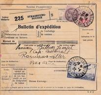 BULLETIN D'EXPEDITION D'un Colis De STRASBOURG BOURSE Du 23.4.37 Adressé à Romanswiller - Paketmarken