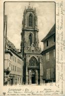 """SELESTAT Eglise Carte De 1902 Adressée Aux Nobles """"DE REINACH"""" - Selestat"""
