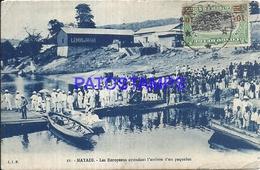 101760 AFRICA CONGO BELGE BELGIUM BELGISCH CONGO MATADI ARRIVAL SHIP POSTAL POSTCARD - Postcards