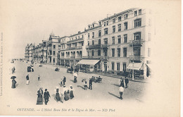 OSTENDE - N° 75 - L'HOTEL BEAU SITE ET LA DIGUE DE MER - Oostende