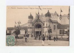 Carte Postale Marseille Vignette Exposition Coloniale. CAD Hexagonal Exposition Coloniale 1906. (759) - Marcophilie (Lettres)