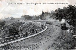 Cpa (22)--st-brieuc - Point De Dèpart Des Chemins De Fer Dèpartementaux - Saint-Brieuc