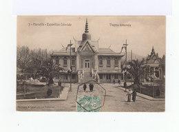Carte Postale Marseille Vignette Exposition Coloniale. CAD Hexagonal Exposition Coloniale 1906. (764) - Marcophilie (Lettres)