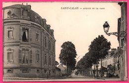 Saint St Calais - Avenue De La Gare - Attelage - Animée - Cliché F. TESSIER - 1904 - Oblit. ST CALAIS / AMIENS - Saint Calais
