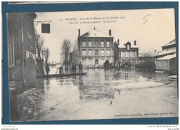 08-WARCQ-Crue De La Meuse-23-25 Janvier 1910 -PLACE DE LA MAIRIE - Non écrite 1910 - Charleville