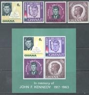 GHANA - 1965 - MNH/** - JOHN F. KENNEDY - Yv 225-228 BLOC 19 - Lot 17913 - Ghana (1957-...)