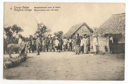 Belgisch Congo Belge Rassemblement Pour Le Travail Carte Postale EP - Congo Belge - Autres