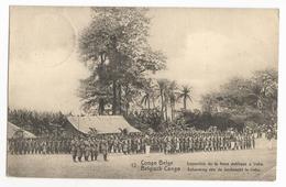 Belgisch Congo Belge Irebu Inspection De La Force Publique Carte Postale Postkaart EP - Congo Belge - Autres