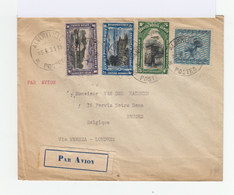 Enveloppe Par Avion 1931. Trois Timbres Congo Belge Service Postal Aérien. Un Timbre Oubangui. (766) - Congo Belge
