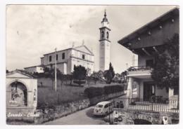 Sarcedo - Chiesa (chapelle à Gauche, Voiture Fiat 850, Publicités) - Circulé, Timbres Décollés - Vicenza