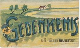 Gedenkenis WAASMUNSTER - WAESMUNSTER - Cachet De La Poste 1931 - Waasmunster