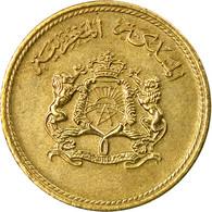 Monnaie, Maroc, Al-Hassan II, 5 Santimat, 1974, Paris, TB+, Aluminum-Bronze - Maroc