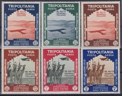 COLONIE ITALIANE TRIPOLITANIA 1934 Mostra D'Arte Coloniale PA Serie Completa 6v Nuovi TL - Tripolitania