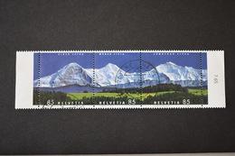 Suisse - 2006 Curiosités Panorama De Montagnes N° 1892 - 1893 - 1894 Se Tenant Oblitérés - Schweiz