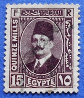 EGYPT 15(QUINZE) Mills 1937 KING FOUAD I - USED - Ägypten
