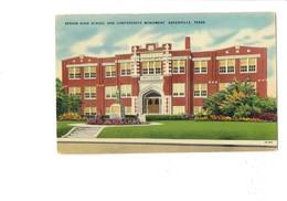 Cpa - Greenville South Carolina~  Senior High School And Confederate Monument - Greenville