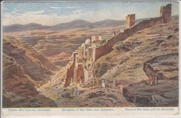 PALÄSTINA  MONASTERY OF MAR SABA NEAR JERUSALEM    ART PC - Palestine