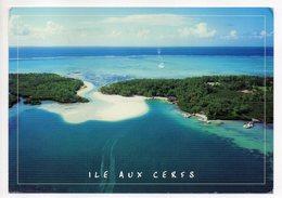 Ile Maurice --Vue Aérienne --Ile Aux Cerfs   --- Beau  Timbre  -- Cachet - Mauritius