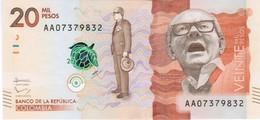 Colombia - Pick 461a - 20.000 (20000) Pesos 2015 - 2016 - Unc - Colombie