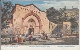 PALÄSTINA  JERUSALEM GRAVE OF THE VIRGIN MARY     ART PC  F. PERLBERG - Israel