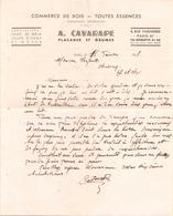Lettre à En-tête A.Cavarape Placages Et Grumes Du 18 Février 1937 - Manuscrits