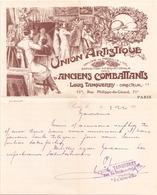 Lettre à En-tête Union Artistique D'anciens Combattants Du 11 Mars ?? à Paris - Manuscrits