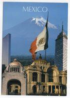 Mexique --MEXICO --Monuments De Mexico (drapeau )-- Beau Timbre (papillons )--cachet Registred International -- - Mexique