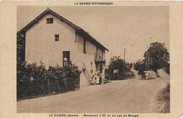 73,  Savoie, LE VIVIERS, Restaurant à 50m. Du Lac Du Bourget, Scan Recto-verso - Autres Communes