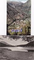 2 CPSM 10X15  Du VALLS D'ANDORRA - VUE GENERALE D' ENCAMP Prise Du TELEPHERIQUE D' ENGOLASTERS - LAC - Andorre