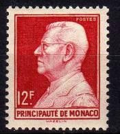 MONACO N° 305  XX Prince Louis II 12 F. Rouge Carminé TB - Nuovi
